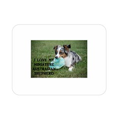 Blue Merle Miniature American Shepherd Love W Pic Double Sided Flano Blanket (Mini)