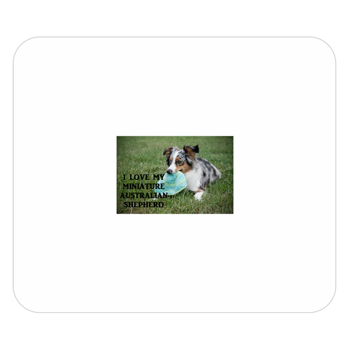Blue Merle Miniature American Shepherd Love W Pic Double Sided Flano Blanket (Small)
