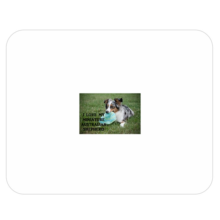 Blue Merle Miniature American Shepherd Love W Pic Double Sided Flano Blanket (Medium)