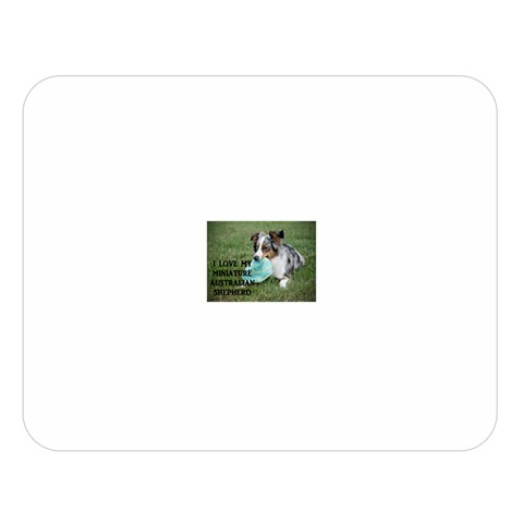 Blue Merle Miniature American Shepherd Love W Pic Double Sided Flano Blanket (Large)