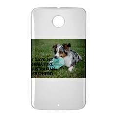 Blue Merle Miniature American Shepherd Love W Pic Nexus 6 Case (White)