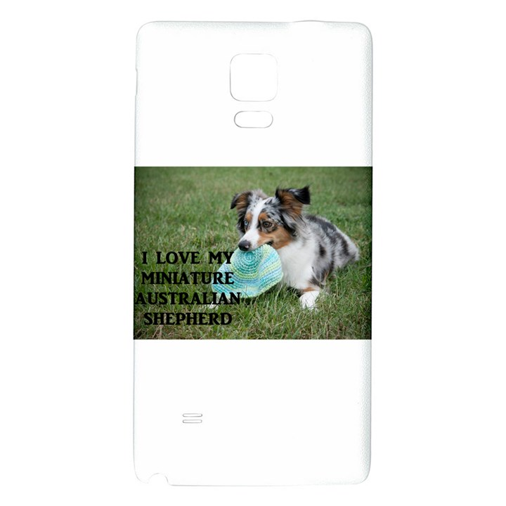 Blue Merle Miniature American Shepherd Love W Pic Galaxy Note 4 Back Case