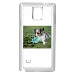 Blue Merle Miniature American Shepherd Love W Pic Samsung Galaxy Note 4 Case (White)