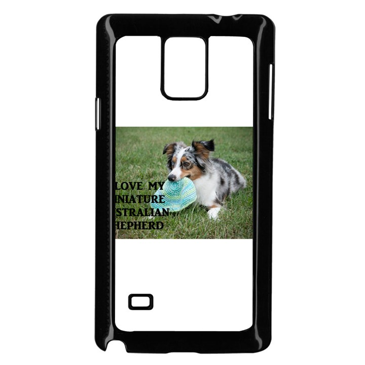 Blue Merle Miniature American Shepherd Love W Pic Samsung Galaxy Note 4 Case (Black)