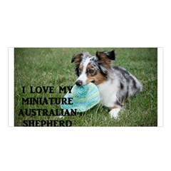 Blue Merle Miniature American Shepherd Love W Pic Satin Shawl