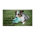 Blue Merle Miniature American Shepherd Love W Pic Satin Shawl Front