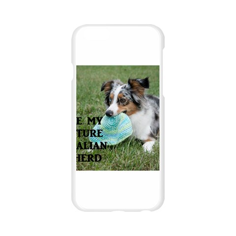 Blue Merle Miniature American Shepherd Love W Pic Apple Seamless iPhone 6/6S Case (Transparent)