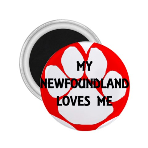 My Newfie Loves Me 2.25  Magnets
