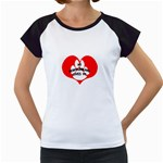 My Newfie Loves Me Women s Cap Sleeve T Front