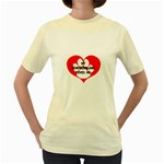 My Newfie Loves Me Women s Yellow T-Shirt Front