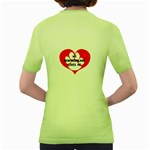 My Newfie Loves Me Women s Green T-Shirt Back