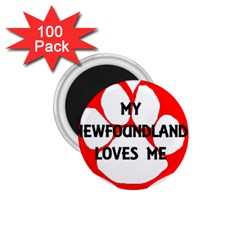 My Newfie Loves Me 1.75  Magnets (100 pack)