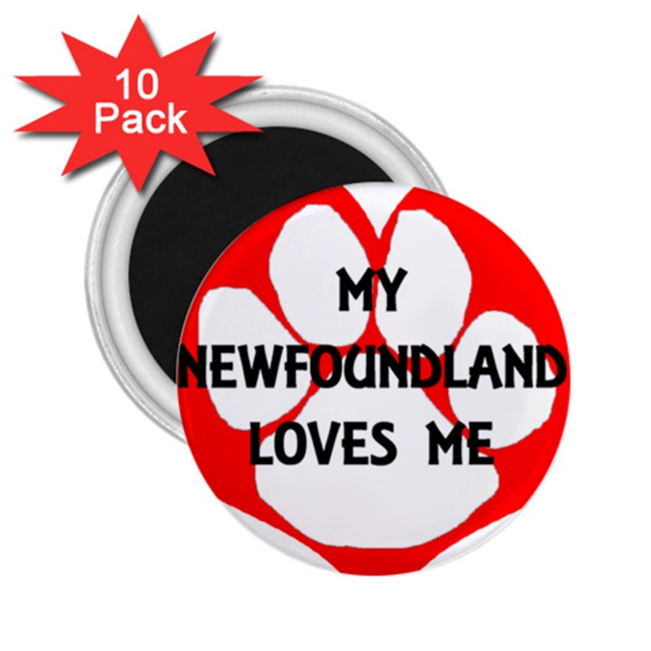 My Newfie Loves Me 2.25  Magnets (10 pack)