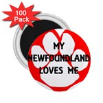 My Newfie Loves Me 2.25  Magnets (100 pack)  Front