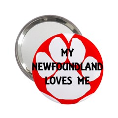 My Newfie Loves Me 2.25  Handbag Mirrors