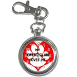 My Newfie Loves Me Key Chain Watches Front