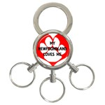 My Newfie Loves Me 3-Ring Key Chains Front