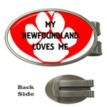 My Newfie Loves Me Money Clips (Oval)  Front