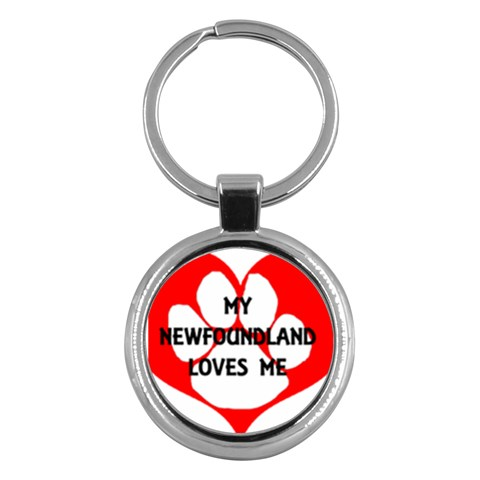My Newfie Loves Me Key Chains (Round)