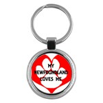 My Newfie Loves Me Key Chains (Round)  Front