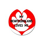 My Newfie Loves Me Magnet 3  (Round) Front