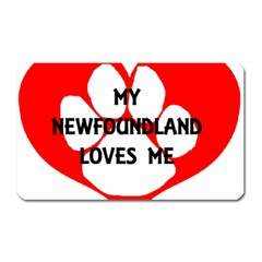 My Newfie Loves Me Magnet (Rectangular)