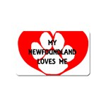 My Newfie Loves Me Magnet (Name Card) Front