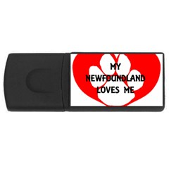 My Newfie Loves Me USB Flash Drive Rectangular (2 GB)