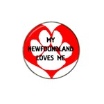 My Newfie Loves Me Hat Clip Ball Marker (4 pack) Front
