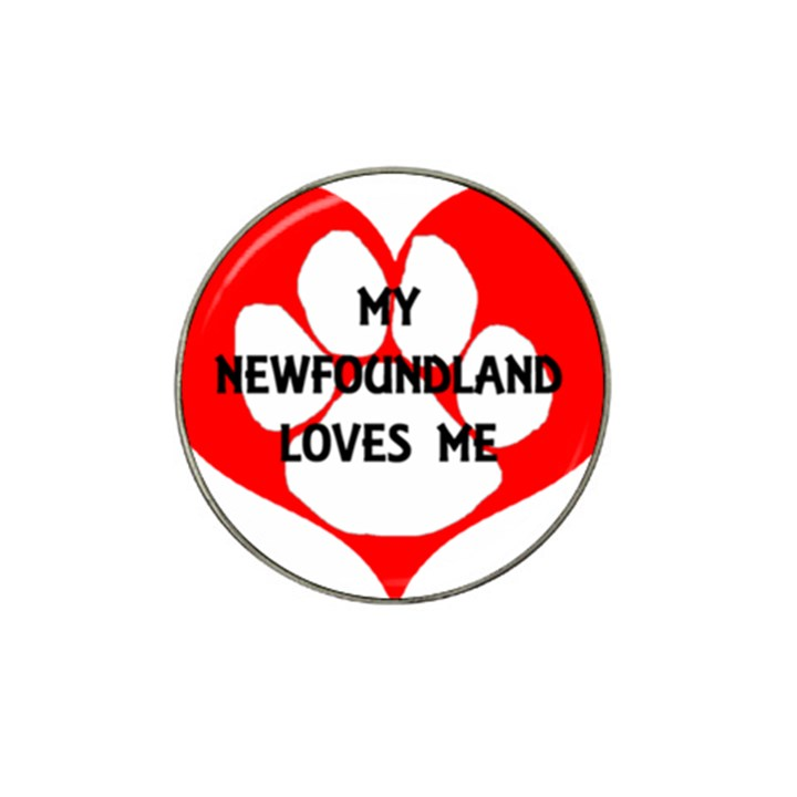 My Newfie Loves Me Hat Clip Ball Marker (10 pack)