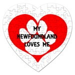 My Newfie Loves Me Jigsaw Puzzle (Heart) Front