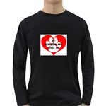 My Newfie Loves Me Long Sleeve Dark T-Shirts Front
