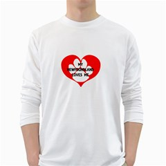 My Newfie Loves Me White Long Sleeve T-Shirts
