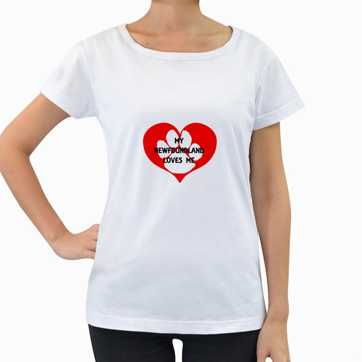 My Newfie Loves Me Women s Loose-Fit T-Shirt (White)