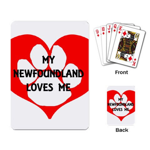 My Newfie Loves Me Playing Card
