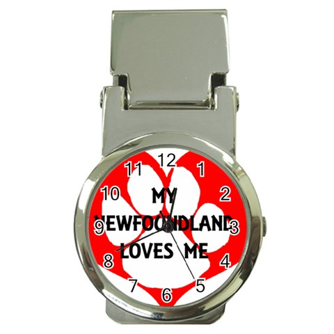 My Newfie Loves Me Money Clip Watches