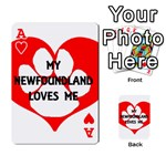 My Newfie Loves Me Playing Cards 54 Designs  Front - HeartA