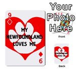 My Newfie Loves Me Playing Cards 54 Designs  Front - Diamond9