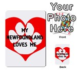 My Newfie Loves Me Playing Cards 54 Designs  Back