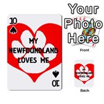 My Newfie Loves Me Playing Cards 54 Designs  Front - Spade10