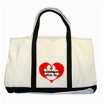 My Newfie Loves Me Two Tone Tote Bag Front