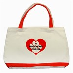 My Newfie Loves Me Classic Tote Bag (Red) Front