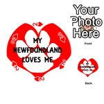My Newfie Loves Me Playing Cards 54 (Round)  Front - Heart2