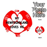 My Newfie Loves Me Playing Cards 54 (Round)  Front - Heart10