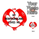 My Newfie Loves Me Playing Cards 54 (Round)  Front - HeartK