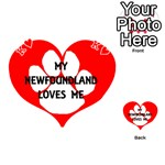My Newfie Loves Me Playing Cards 54 (Heart)  Front - HeartK