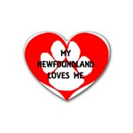 My Newfie Loves Me Heart Coaster (4 pack)  Front
