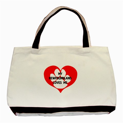 My Newfie Loves Me Basic Tote Bag (Two Sides)