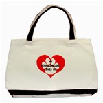 My Newfie Loves Me Basic Tote Bag (Two Sides) Back