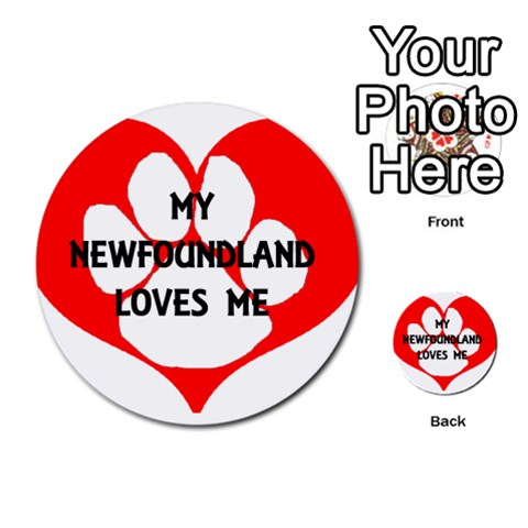 My Newfie Loves Me Multi-purpose Cards (Round)